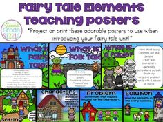 "Use these beautifully colorful posters to project or print and share with your students when introducing  Fairy Tales, Fables, and Folk Tales. This is also included in my Fairy Tale Bundle found here I  would LOVE to hear your comments and feedback! PLEASE use the ""Ask the Seller"" tab if you'd like anything changed or added and I will gladly add or change the product for you!Follow me on FB and Bloglovin' for tons of freebies and fun!"