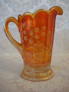 carnival glass pitcher