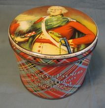 Vintage British Biscuit Tin, Huntley & Palmers, John O'Groats Shortbread $50