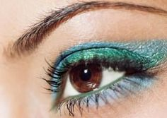 Turquoise Eye Make up - shown here is a great color combination for brown eyes!
