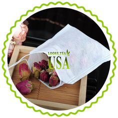 Make Your Own Tea Bagd  High Quality woven empty teabags provide a perfect way to brew your tea. DIY your own tea bag blend.
