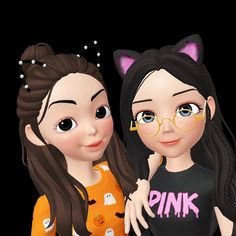 Bff, Best Friend Drawings, Math Formulas, Girly Drawings, Best Friends Forever, My Sister, Chibi, Snow White, Disney Characters