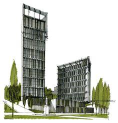 Жилищно-офисный комплекс в Ростове на Дону : Sergey Skuratov Architects