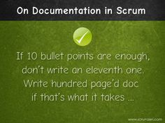 On Just enough documentation in #Scrum