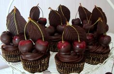 Chocolate Cherry Cupcakes yummy