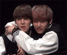 BTS   V and JIMIN. Don't fight it, Jimin! You know you love it