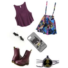 A fashion look from December 2014 featuring H&M tops, Dr. Martens boots and Monday earrings. Browse and shop related looks.
