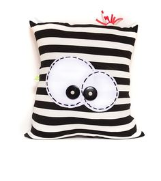 Funny Pillows, Cute Pillows, Baby Pillows, Throw Pillows, Sewing Toys, Sewing Crafts, Sewing Projects, Free Sewing, Sewing Pillows