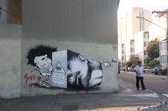 Claudio Ethos in Amsterdam + Sao Paulo - unurth | street art #Brazil #streetart #art