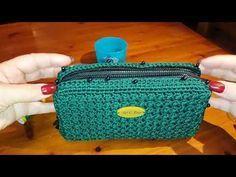 "TUTORIAL - RICOPRIRE PORTAFOGLIO AD UNCINETTO ""ECONOCCIOLINO DOUBLE FACE"" (part 2) - YouTube Crochet Backpack Pattern, Crochet Wallet, Crochet Coin Purse, Crochet Purses, Craft Bags, Crochet Handbags, Simple Bags, Crochet Videos, Knitted Bags"