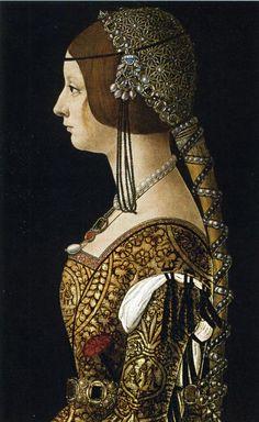 ❤ - Bianca Maria Sforza https://hemmahoshilde.wordpress.com/2015/09/06/bianca-maria-sforza-the-bachelorette/ <--- You are welcome to read more about her wedding on my blog :).