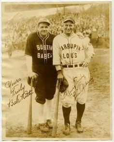 Lou Gehrig and Babe Ruth.