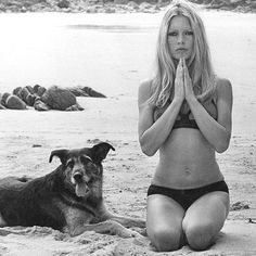 brigitte bardot on the beach