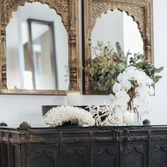 mirrors and buffet
