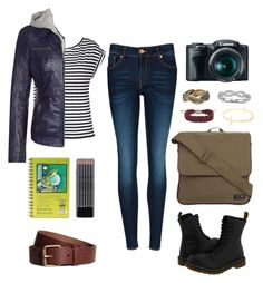 """""""Clary Fray outfit idea!"""" by alohaimmare ❤ liked on Polyvore featuring Ted Baker, Dr. Martens, H&M, Dorothy Perkins, With Love From CA, Blue Nile, Lola, Freaky Nation and Rusty"""