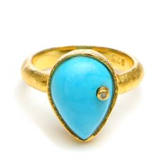 Turquoise Diamond Cocktail Ring  Wendy Mink Jewelry