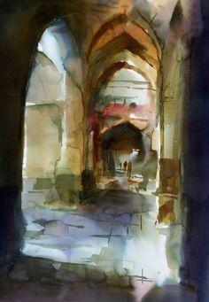 "Saatchi Online Artist: Behzad Bagheri; Watercolor, 2009, Painting ""FLOWERING OF SUNLIGHT"""
