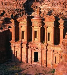 Le site troglodyte de Petra en Jordanie, l'une des 7 merveilles du monde moderne