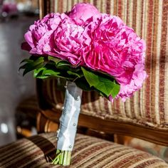 Fuchsia Peony Bouquet Real Weddings - In Bliss Weddings