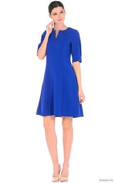 Vestidos casuales azul electrico