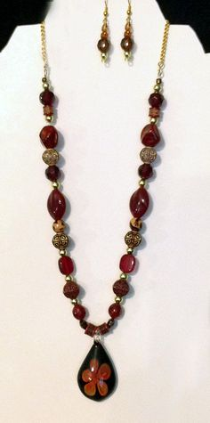 Necklace and Matching Earrings, $18
