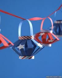 Forth of July lanterns... make with red white and blue paper = put battery operated tea lights!!!