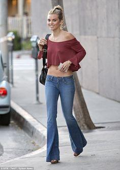 AnnaLynne McCord in bell bottom jeans
