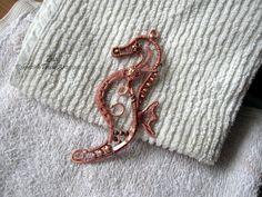 Copper seahorse