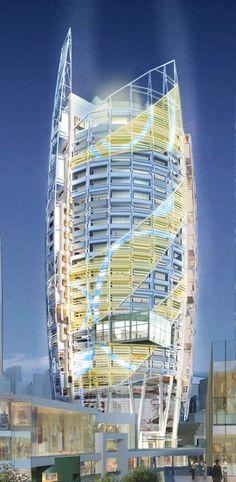 YIBD Block C1-20 / Tange Associates #architecture ☮k #bodegas #RealEstate #bienesRaíces #propiedades #bodegasYlotes