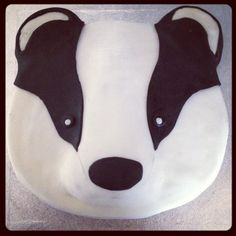 Badger birthday cake! So cute :D www.cazscakes.com Instagram & Twitter: @cazs_cakes ❤️ #badger #cake #birthdaycake