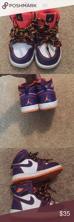 Air Jordan 1's Gently used. Soles can be easily cleaned with vinegar or nail polish remover. Jordan Shoes Sneakers