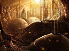 Dune water reservoirs, Midhat Kapetanovic on ArtStation at https://www.artstation.com/artwork/dune-water-reservoirs