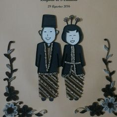 quilling traditional couple javanese costume  hand made by @d_quilling #d_quilling