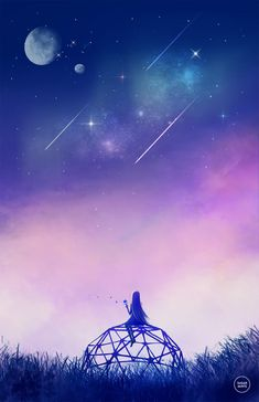 """""""Those?"""" She asked, pointing at the shooting stars, """"no, they're not stars. Those are souls coming to Earth."""" (RW)"""