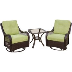Orleans 3-Piece Chat Set In Avocado Green