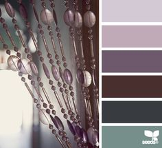 Color Palette • Shades Of Green and Purple