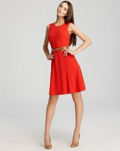 I love this Calvin Klein Fit and Flare Dress (via Shop It To Me)