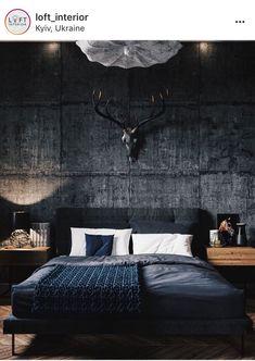 Inspirations Mens Bedroom Ideas - All Bedroom Design Dream Bedroom, Home Decor Bedroom, Master Bedroom, Bedroom Black, Night Bedroom, Bedroom Rustic, Bedroom Art, Bedroom Furniture, Bedroom Ideas