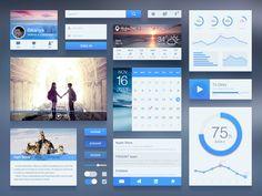 Free UI Kit, пример многослойной верстки