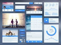 Free UI Kit, #Blue, #Buttons, #Calendar, #Chart, #Checkbox, #Form, #Free, #Graph, #Player, #Profile, #Progress, #PSD, #Resource, #Search_Field, #Sign_in, #Slider, #Switch, #Toggle, #UI, #Weather, #Widget