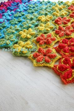 ::Star Fruit Rug & Blanket Crochet Pattern::