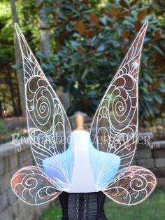 To-Scale, Adult Tinkerbell or Periwinkle Vinyl Fairy Wings for Costumes, Cosplayers, Entertainers, Weddings, and Any Other Special Events by EnchantmentAwaits on Etsy