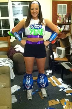 diy halloween costume bud light year - Awesome College Halloween Costumes