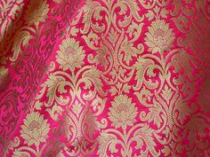 Brocade Fabric, Brocade Fabric by the Yard, Wedding Dress fabric, Indian Banaras fabric, crafting fabric, Dress Material, Costume Fabric