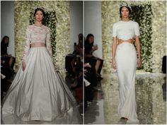 Vestidos de noiva cropped | Cropped Wedding Dresses | Wedding Gowns |