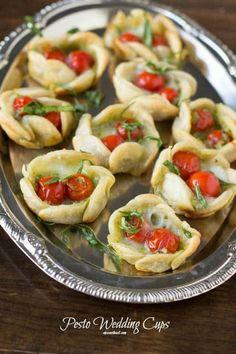 Simple Yet Elegant Wedding Food - Pesto Wedding Tarts! - One Good Thing by JilleePinterestFacebookPinterestFacebookPrintFriendly