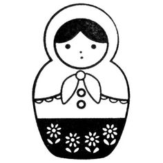 russian doll...simple outline