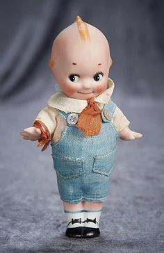 """""""Among Friends, The Billie and Paige Welker Collection"""":                       181  German All-Bisque Kewpie with Rare Painted Shoes and Socks"""