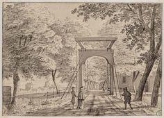Gesigt in de Plantasie na de Heertjes Lijnbaan en Catoen drukkerijen langs de Cadijk door Hendrik Spilman