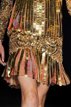 heavy gold- Roberto Cavalli coin dress